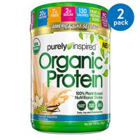 Purely Inspired Organic Vegan Protein Powder, Vanilla, 20g Protein, 1.5 Lb