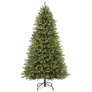 6698d477031 Puleo International 7.5 ft Pre-Lit Slim Elegant Series Fraser Fir  Artificial Christmas Tree with