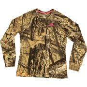 60e947a92fc Mossy Oak Women s Long Sleeve Camo Henley Tshirt
