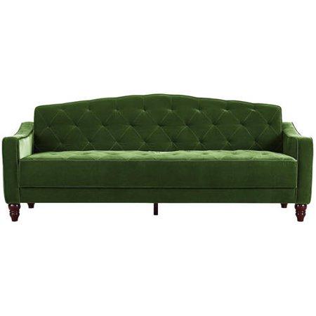 Vintage couch 70s Amazoncom Novogratz Vintage Tufted Sofa Sleeper Ii Multiple Colors Walmartcom