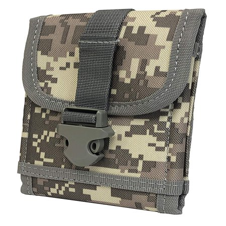 Agoz MOLLE Tactical Hunting, Camping, Fishing, Outdoor Camo Case Carrying Vertical Holster Pouch Waist Bag for Kyocera DuraForce, DuraForce PRO/PRO 2, DuraScout, Brigadier, Hydro Shore, Torque