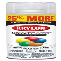 Krylon® ColorMaster Paint + Primer Satin Acrylic Crystal Clear, 15-Oz