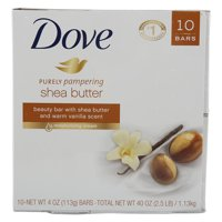 Dove, 10 Shea Butter 4 oz Beauty Bars, Warm Vanilla Scent