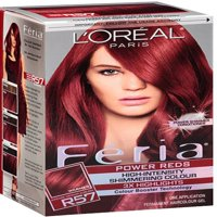 L'Oreal Paris Feria Permanent Haircolor, R57 Intense Medium Auburn 1 ea