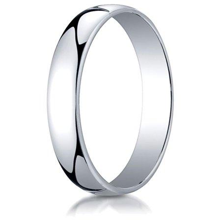 14k White Gold 3.0mm Low Dome Light Ring 14k White Gold Dove Ring