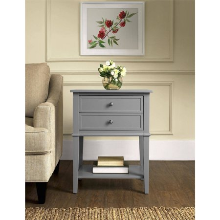 Ameriwood Home Franklin Accent Table with 2 Drawers, Multiple Colors