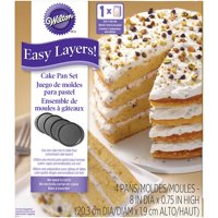 Wilton Easy Layers! Cake Pan Set, 8 in., 4 pc.