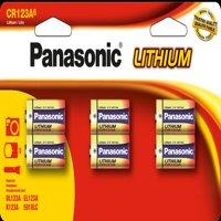 Panasonic CR123A Lithium Batteries - 6 Pack