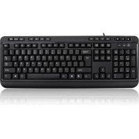 Adesso Multimedia Desktop Keyboard with 3-Port USB Hub