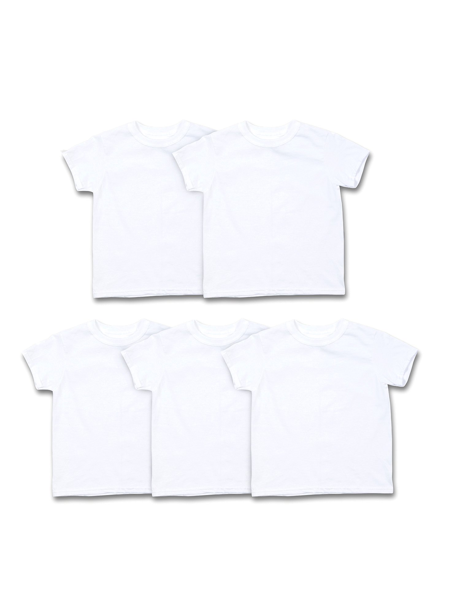 Hanes Boys Undershirts, 5 Pack ComfortSoft Short Sleeve Crewneck Tagless Undershirts (Little Boys & Big Boys)