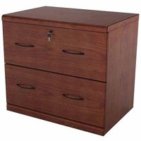 2 Drawer Classic Vertial Wood File Cabinet, Cherry