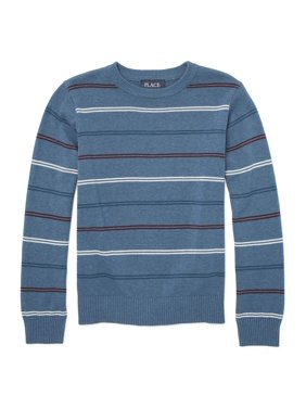 Long Sleeve Stripe Crew Neck Sweater (Little Boys & Big Boys)