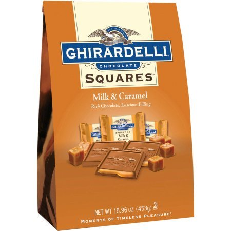 Ghirardelli Squares Milk Chocolate & Caramel Chocolates, 15.9 -