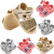 7d39f6b3d Baby Infant Kids Girl Soft Sole Crib Shoes Toddler Summer Pram Sandals 0-18M