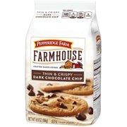 (3 Pack) Pepperidge Farm Farmhouse Thin & Crispy Dark Chocolate Chip Cookies, 6.9 oz. Bag