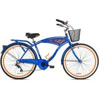 """BCA 26"""" Men's, Margaritaville Multi-Speed Cruiser Bike, Blue"""