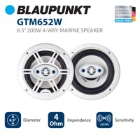 Blaupunkt GTM652W Car Speaker 6.5 Inch 4-Way Marine White Color