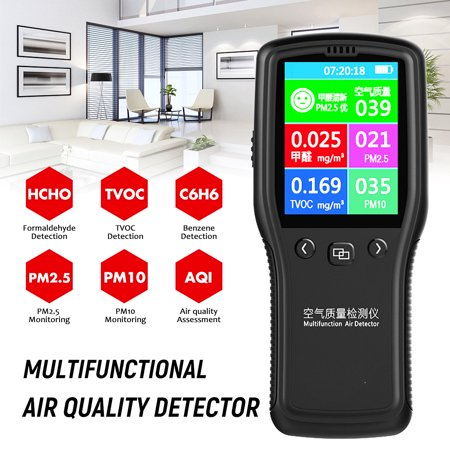 Portable Air Quality Monitor PM2.5 PM10 Formaldehyde TVOC Tester LCD Laser Detector ()