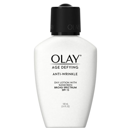 Olay Age Defying Anti-Wrinkle Day Face Lotion with Sunscreen SPF 15, 3.4 fl oz
