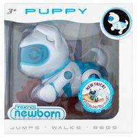 Tekno Robotic Pets, Newborn Puppy, Blue
