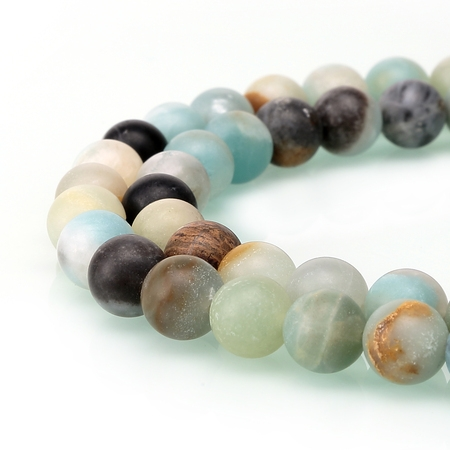 - BRCbeads Amazonite Natural Gemstone 10mm Matte Round Beads for Jewelry Making