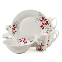 Gibson Home Scarlet Leaves 12 Pc. Dinnerware Set