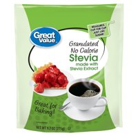 (2 Pack) Great Value Granulated Stevia Sweetener, No Calorie, 9.7 oz