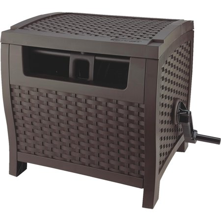 Suncast 175' Resin Wicker Hose Hideaway - Java,