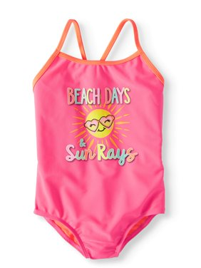 Graphic One-Piece Swimsuit (Little Girls, Big Girls & Big Girls Plus)