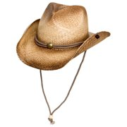 a7e6bdd5853 Ombre Straw Round Up Authentic Cowboy Hat w  Moisture Wicking Band