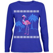 253266e50bf Flamingo Winter Ugly Christmas Sweater Womens Long Sleeve T Shirt