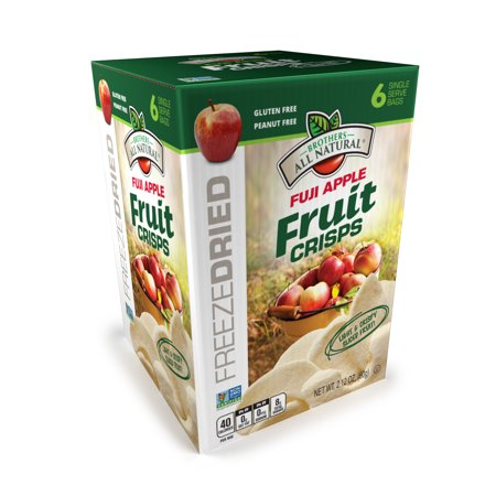 Brothers All Natural Freeze-Dried Fuji Apples Fruit Crisps, 2.12 Oz., 6 Count