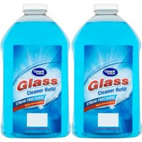(2 Pack) Great Value Glass Cleaner Refill, Streak-Free Shine, 67.6 fl oz