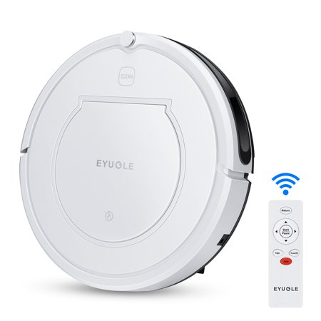 Eyugle Robot Vacuum Cleaner - Self-chorging Cleaner , Power Suction, Slim Design, Remote Control, Anti-Drop, HEPA Filter Good for Pet Hair, Thin Carpets and Hard Floors (Bobsweep Robotic Vacuum Cleaner And Mop Reviews)