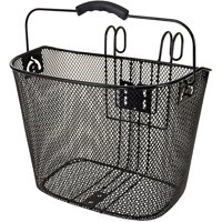 Ventura Easy-Mount Mesh Bicycle Basket 10.25 x 8.5 x 13.5 in, Black