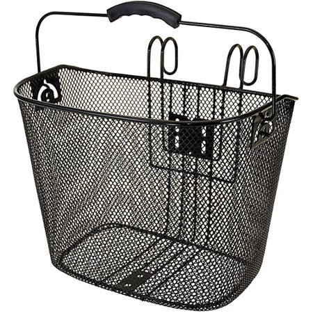 Ventura Easy-Mount Mesh Bicycle Basket 10.25 x 8.5 x 13.5 in, Black