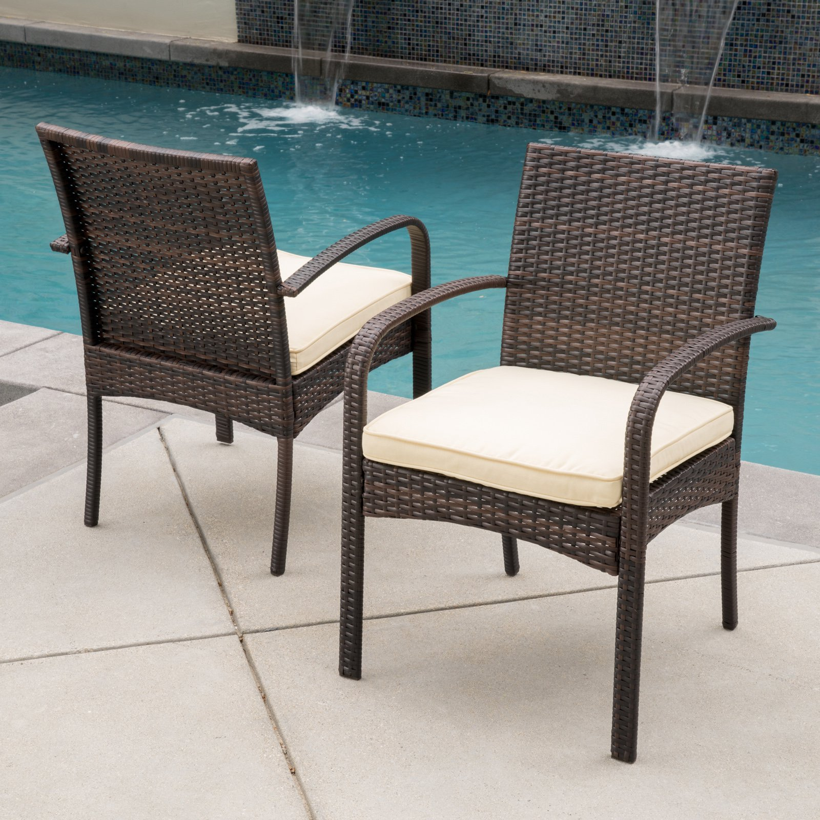 Patio chairs stools for Backyard pool furniture