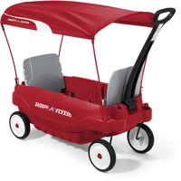 Radio Flyer, Deluxe Family Wagon with Canopy, Model #3156, Red