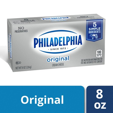 Philadelphia Original Cream Cheese Brick 8 Oz Box Walmart Com