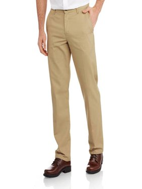 Men's Slim Fit Flat Front Flex Pant
