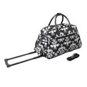 All-Seasons Designer Prints Damask 21-inch Carry-On Rolling Duffel Bag 7c4e629d1f7f2