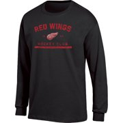 3e9978db2c5 Men s Black Detroit Red Wings Spine Hit Long Sleeve T-Shirt