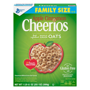 (2 Pack) Apple Cinnamon Cheerios, Gluten Free, Cereal, Family Size, 20.1 oz Box