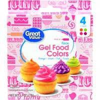 (2 Pack) Great Value Gel Food Colors, Neon, 4 Count