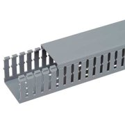 0397da4fbd3e PANDUIT F4X4LG6 Wire Duct,Narrow Slot,Gray,4.25 W x 4 D