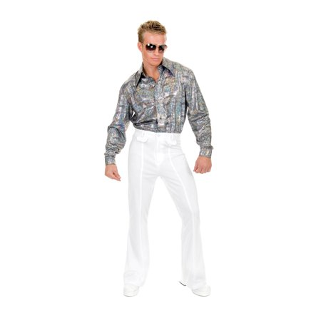 Mens White Disco Pants Halloween Costume (White Horse Halloween)