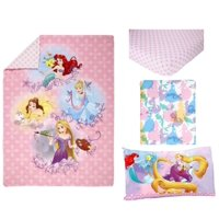 Disney Princess Adventure Rules 4-Piece Toddler Bedding Set