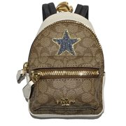 11c6a7bfa808a COACH Backpack Coin Case Signature Keyring Bag Charm with Star
