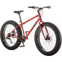 "26"" Mongoose Hitch Men's All-Terrain Fat Tire Bike, Red"