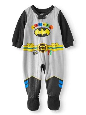 Batman Microfleece Footed Blanket Sleeper (Baby Boys)